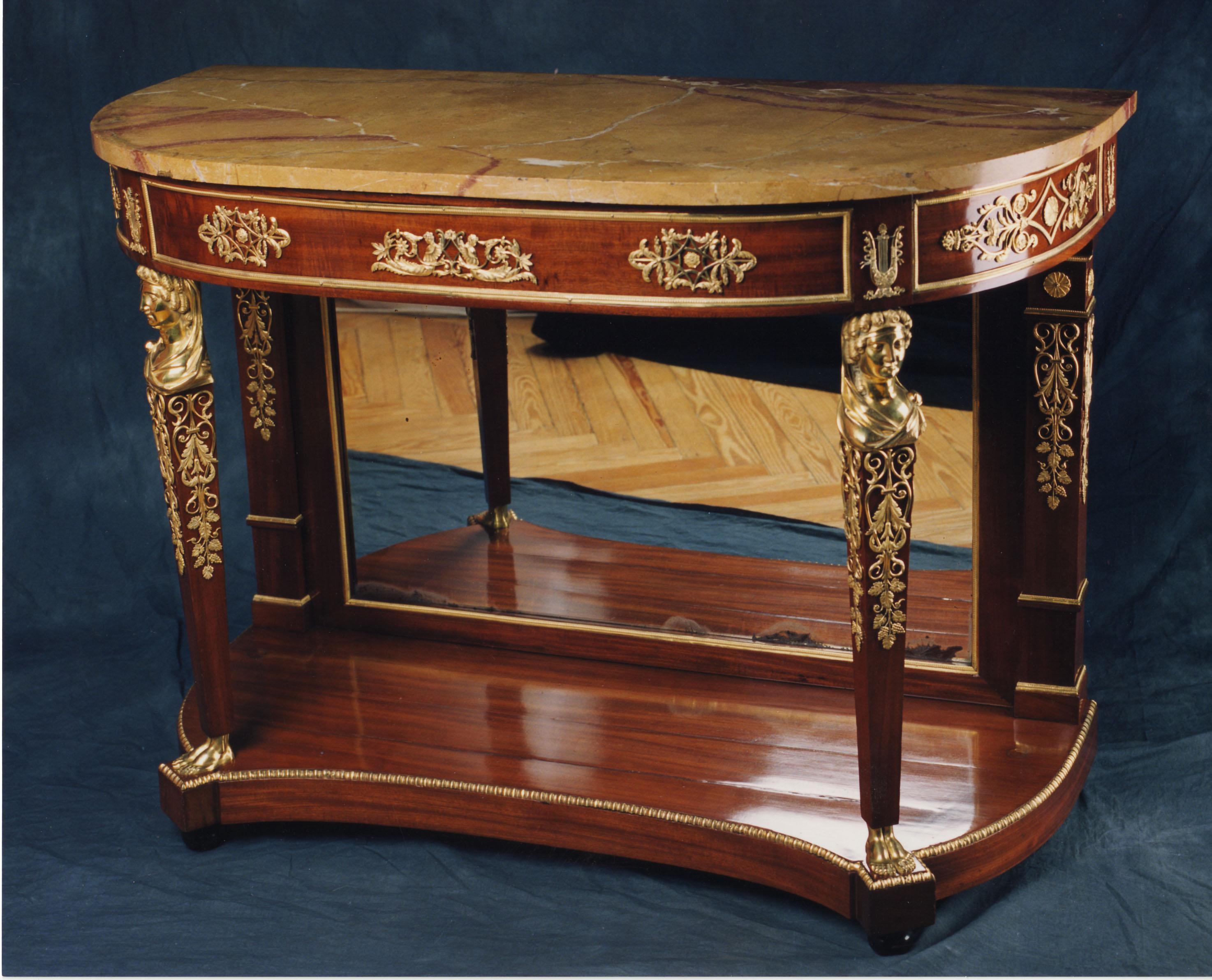 Consola carlos iv 1800 palacio real de madrid esmadeco for Epoca muebles